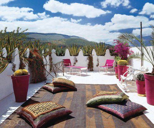Wohnideen Terasse orientalische wohnideen bodenkissen sitzkissen balkon terrasse jpg