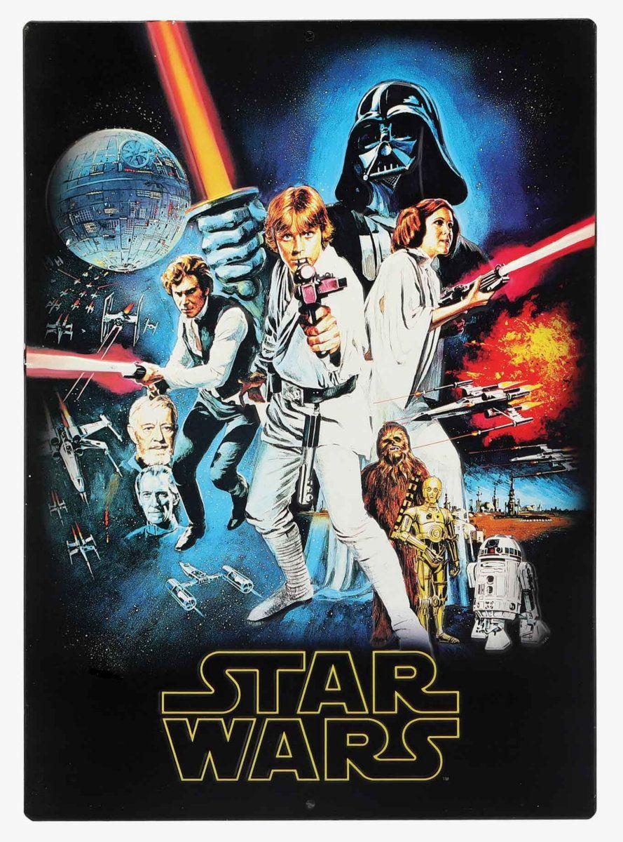 Star Wars Original Embossed Tin Sign