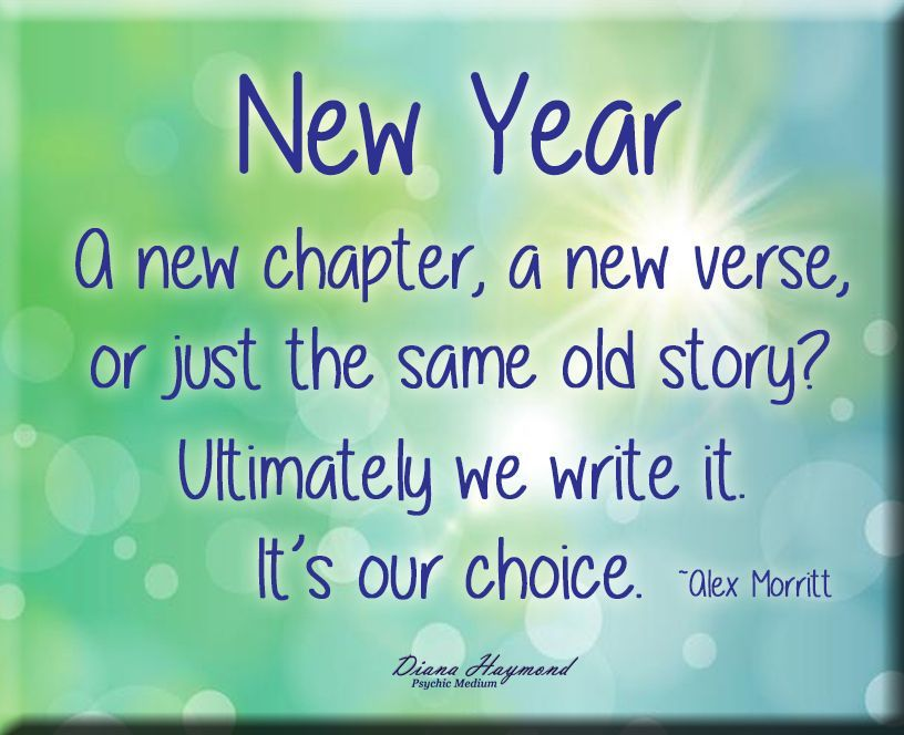 New year a new chapter a new verse or just the same
