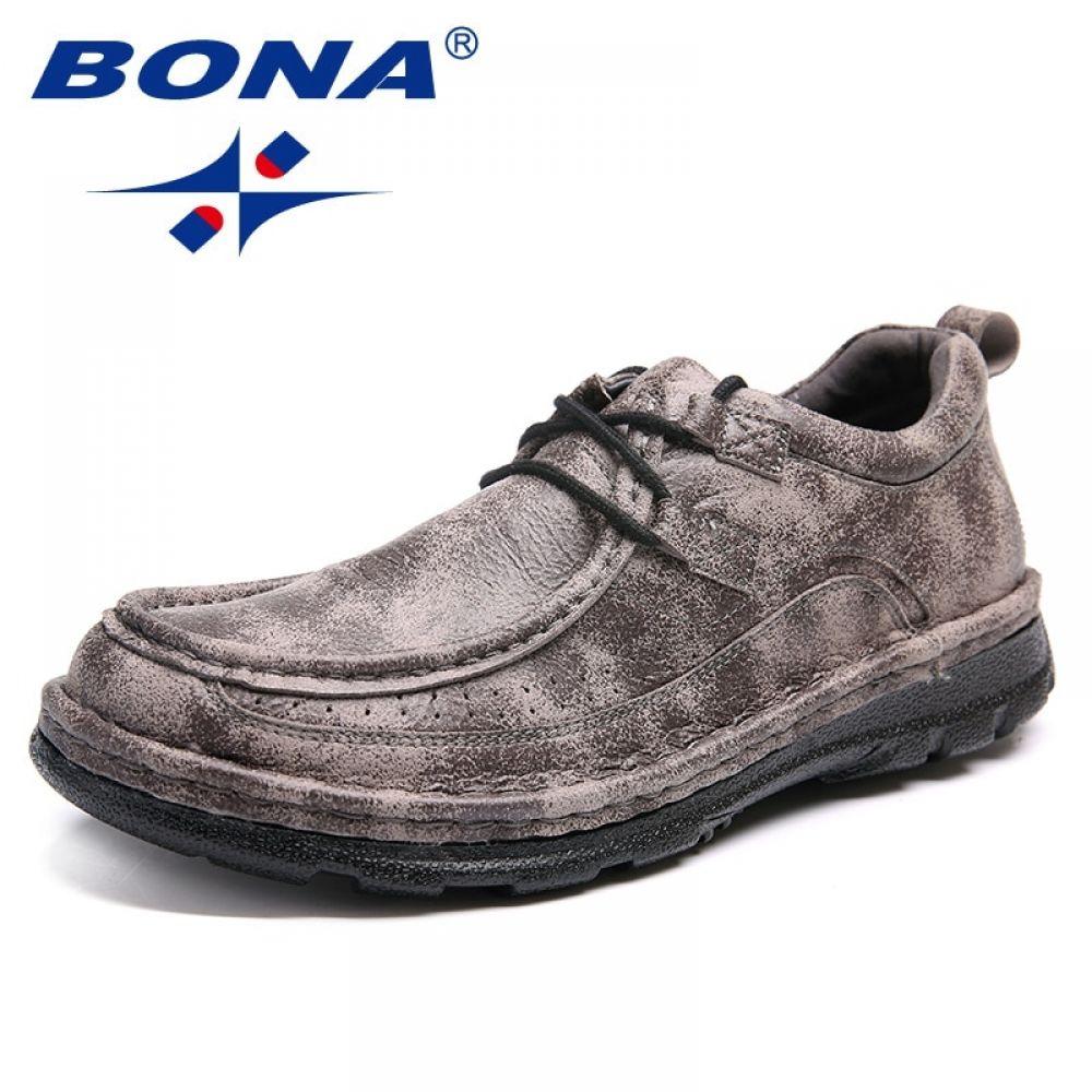 aefee15b789e BONA New Fashion Style Men Casual Shoes Lace Up Men Boat Shoes ...