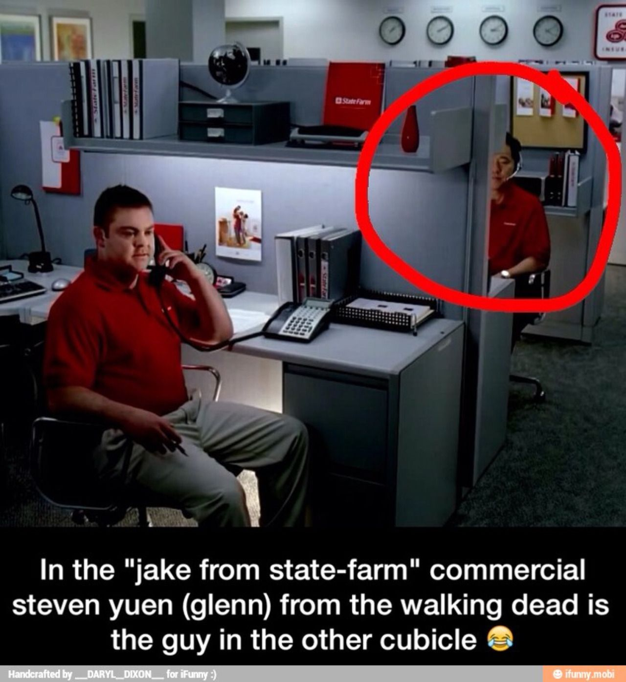 Apparently Steven Yeun was in the Jake from State Farm ...