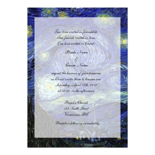 Starry Starry Night Wedding Invitations   Google Search