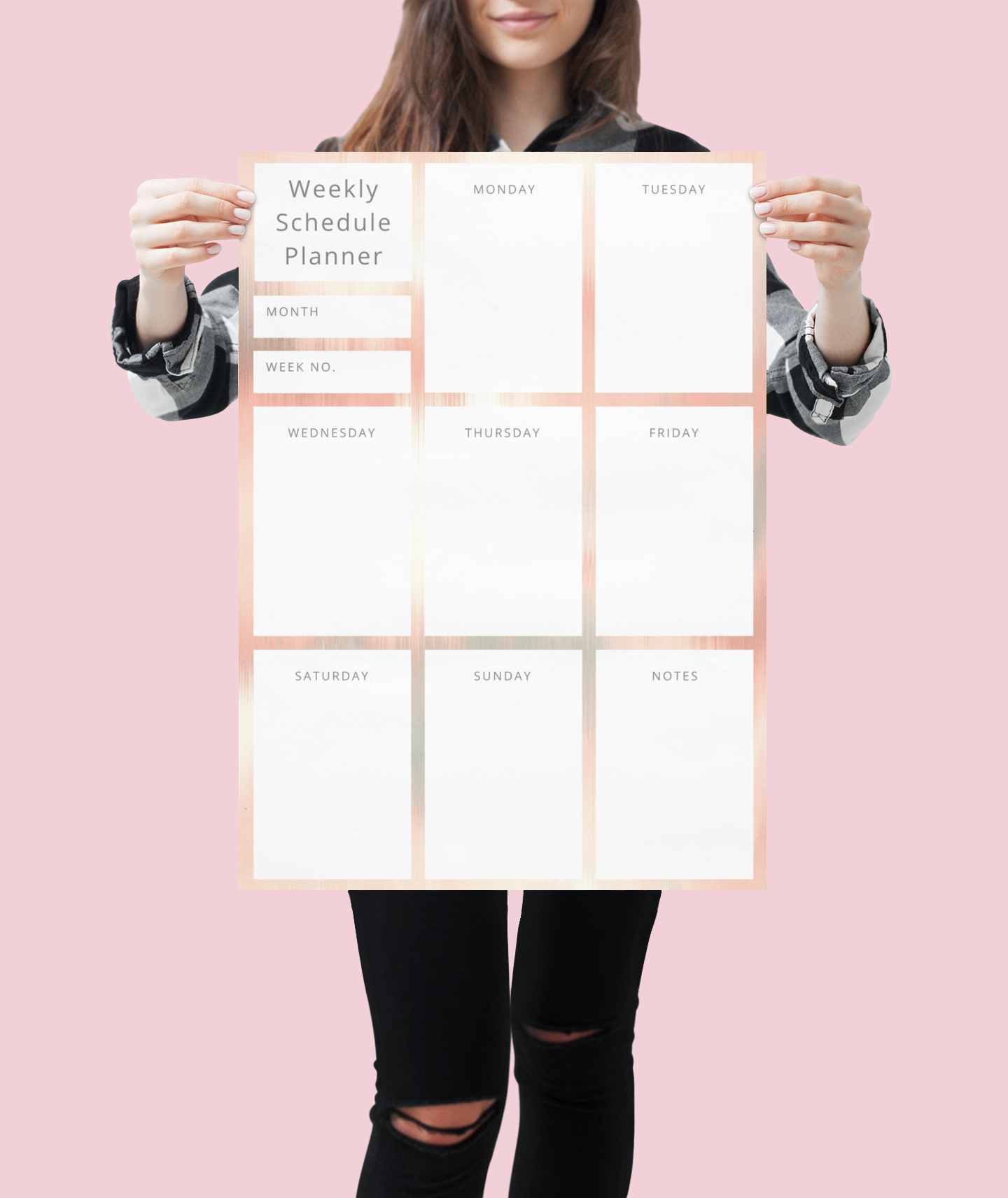 Photo of Pretty Weekly Wall Planner – 18″ × 24″