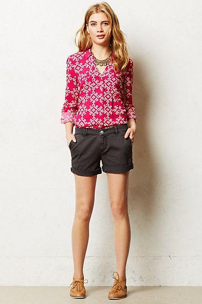 Go-Everywhere Shorts #anthropologie - and see the khaki shorts (I ...