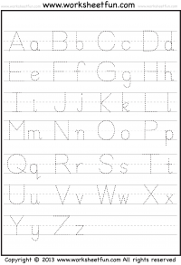 free printable name tracing templates - letter tracing a z free printable worksheets