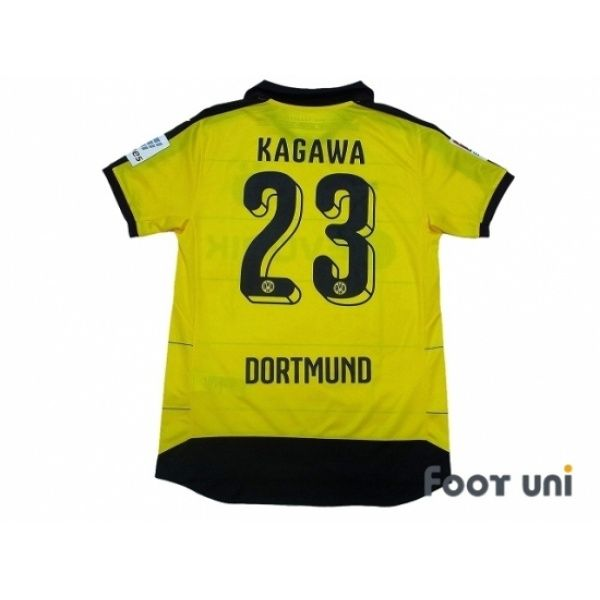 Borussia Dortmund 2015-2016 Home Shirt #23 Kagawa Bundesliga Patch/Badge  #puma - Football Shirts,Soccer Jerseys,Vintage Classic Retro - Online Stor…