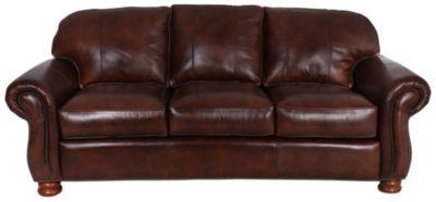 Thomasville Benjamin 100% Leather Sofa