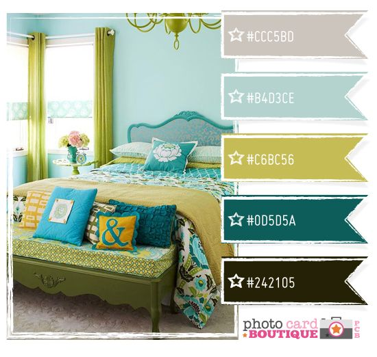 love the room, love the color scheme... love it all. (and who wouldn't love that ampersand?)