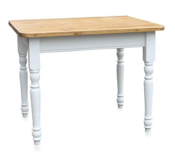 weißer Esstisch mit gedrechselten Beinen im Landhausstil - Landhaus ...