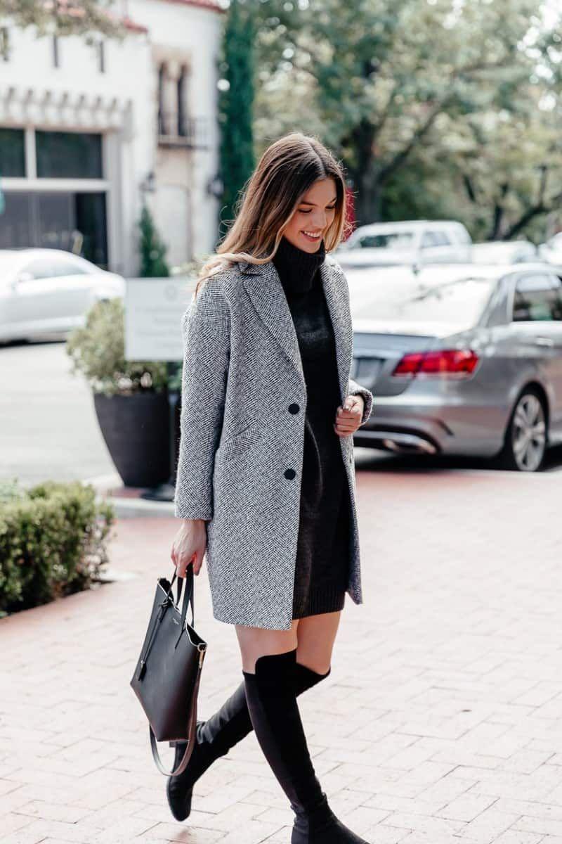 Herringbone Coat Outfit Herringbone Coat Winter Herringbone Coat Women Turtleneck Sweater Dres Herringbone Coat Women Casual Winter Outfits Herringbone Coat [ 1200 x 800 Pixel ]