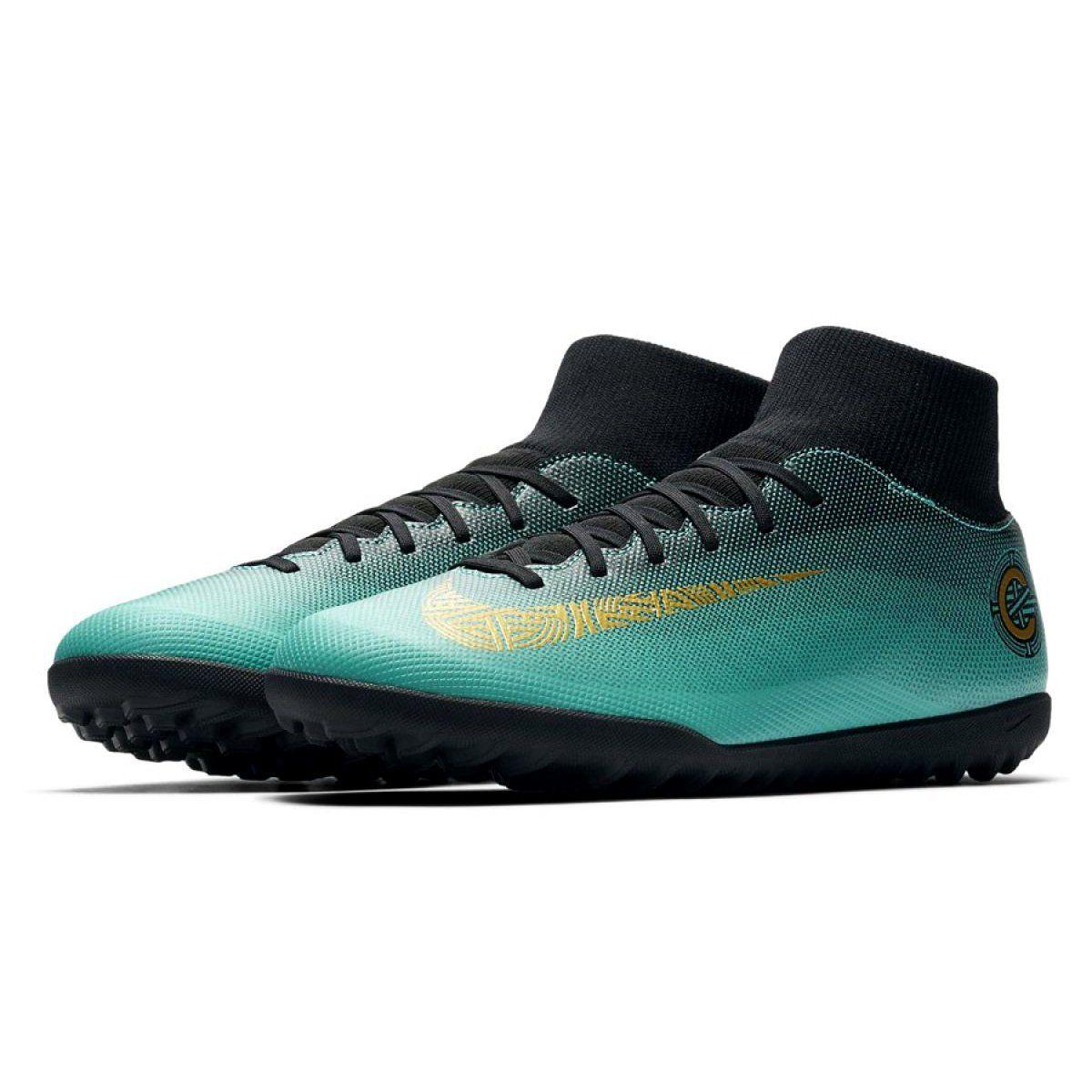 Buty Pilkarskie Nike Mercurialx 6 Club Cr7 Tf Aj3570 390 Niebieskie Niebieskie Hoka Running Shoes Running Shoes Sport Shoes