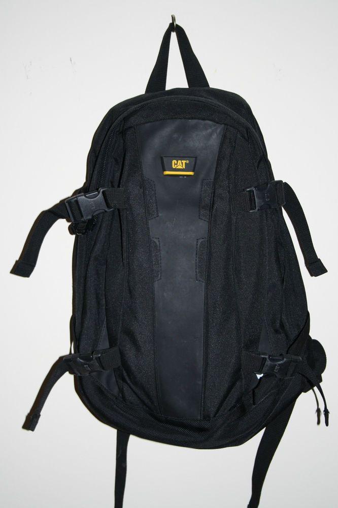 Caterpillar Cat Mens Backpack Rucksack College School Travel Gym Bag Black 17l