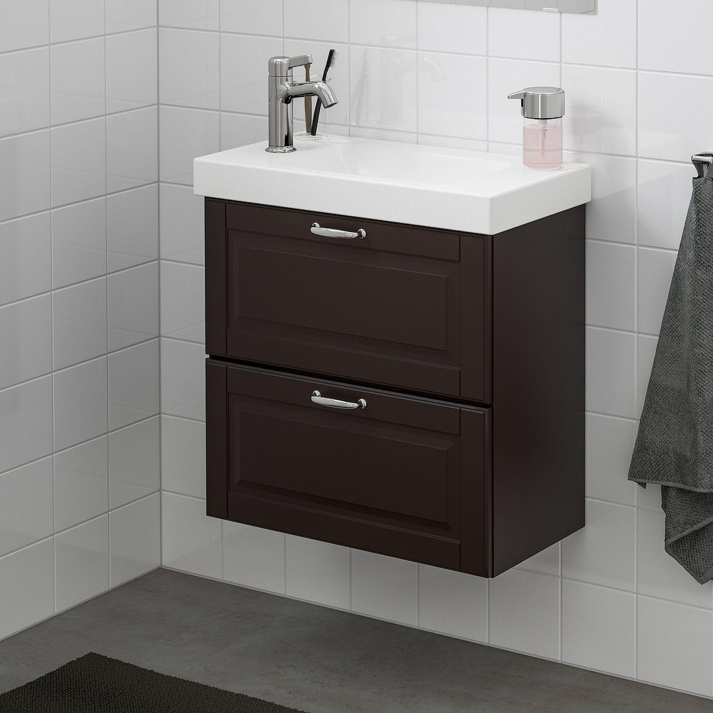 IKEA - GODMORGON / HAGAVIKEN Bathroom vanity Kasjön dark ...