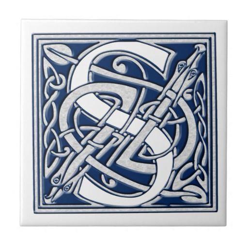 Celtic S Monogram Quot S Quot Is For Susan Celtic Alphabet