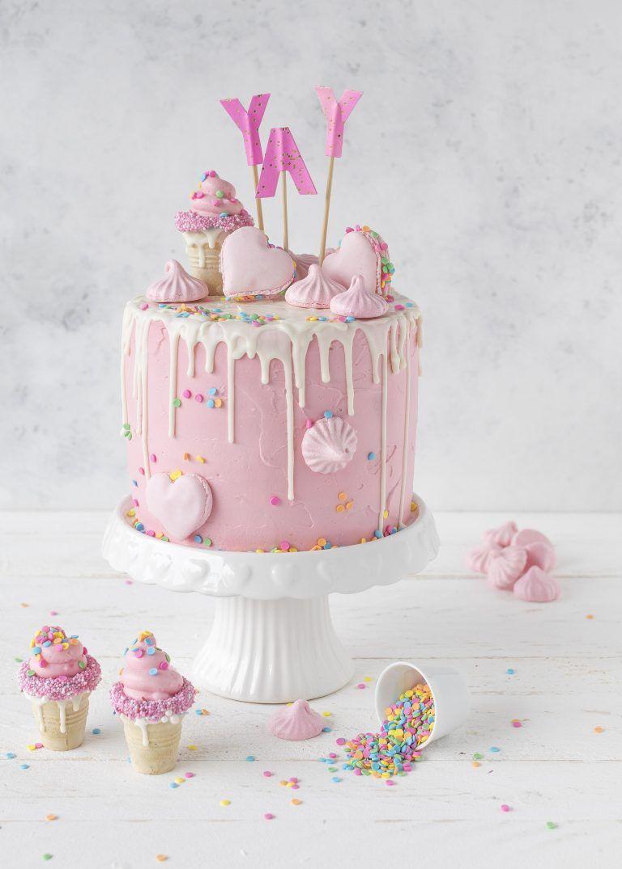 Candy Drip Cake Rezept backen Torte Mädchen Geburtstagstorte #dripcake #birthdaycake ##cake #torte | Emma´s Lieblingsstücke #amazingcakes