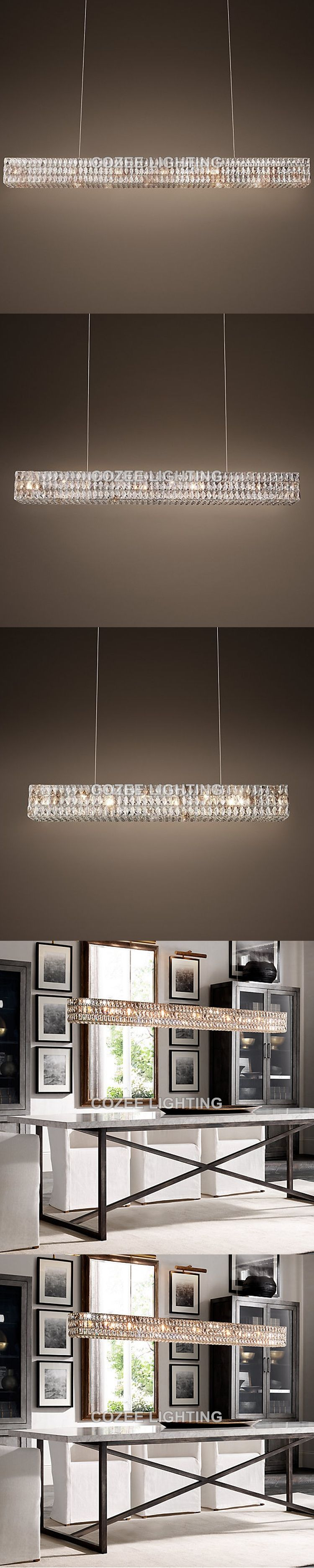 Modern Luxury Crystal Chandelier Lighting Linear Cristal Candle