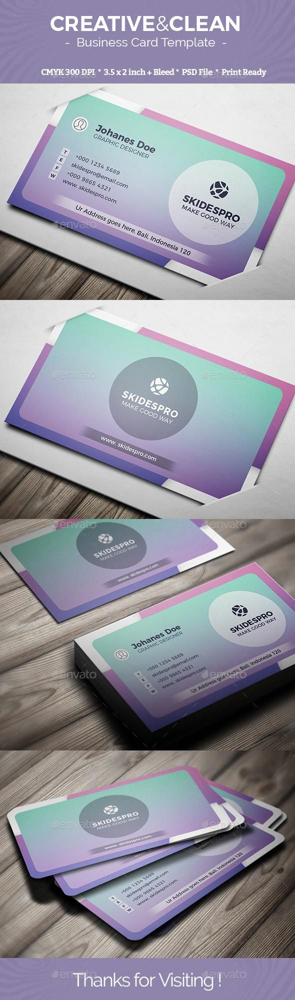 Creative Clean For 5 Graphicriver Bestdesignresources Cartes