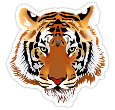 Tiger 578 Stickers By Cybermall Redbubble Tiger Images Tiger Art Tiger Face