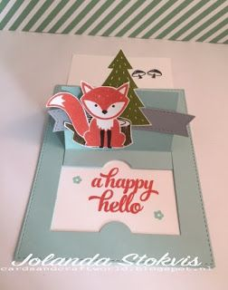 My Card and Craftworld: Foxy pop up slidercard