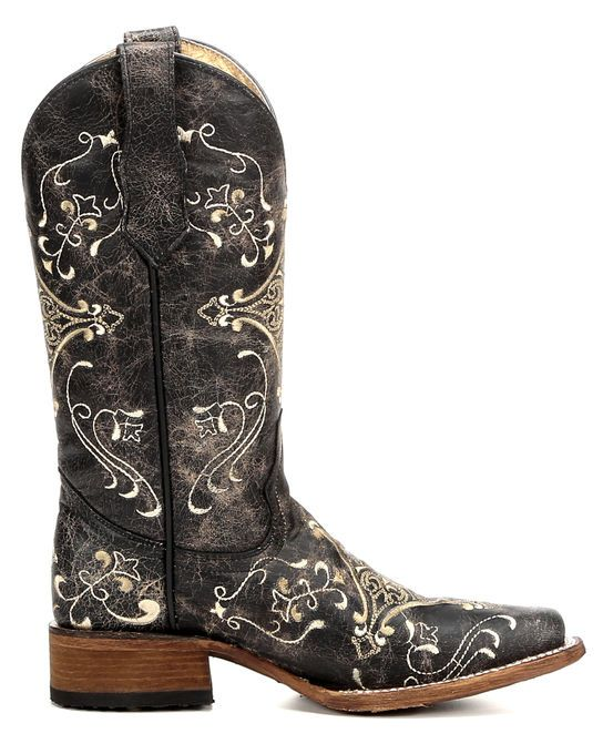 d8a929680a5 Circle G Diamond Embroidered Cowgirl Boots - Square Toe in 2019 ...