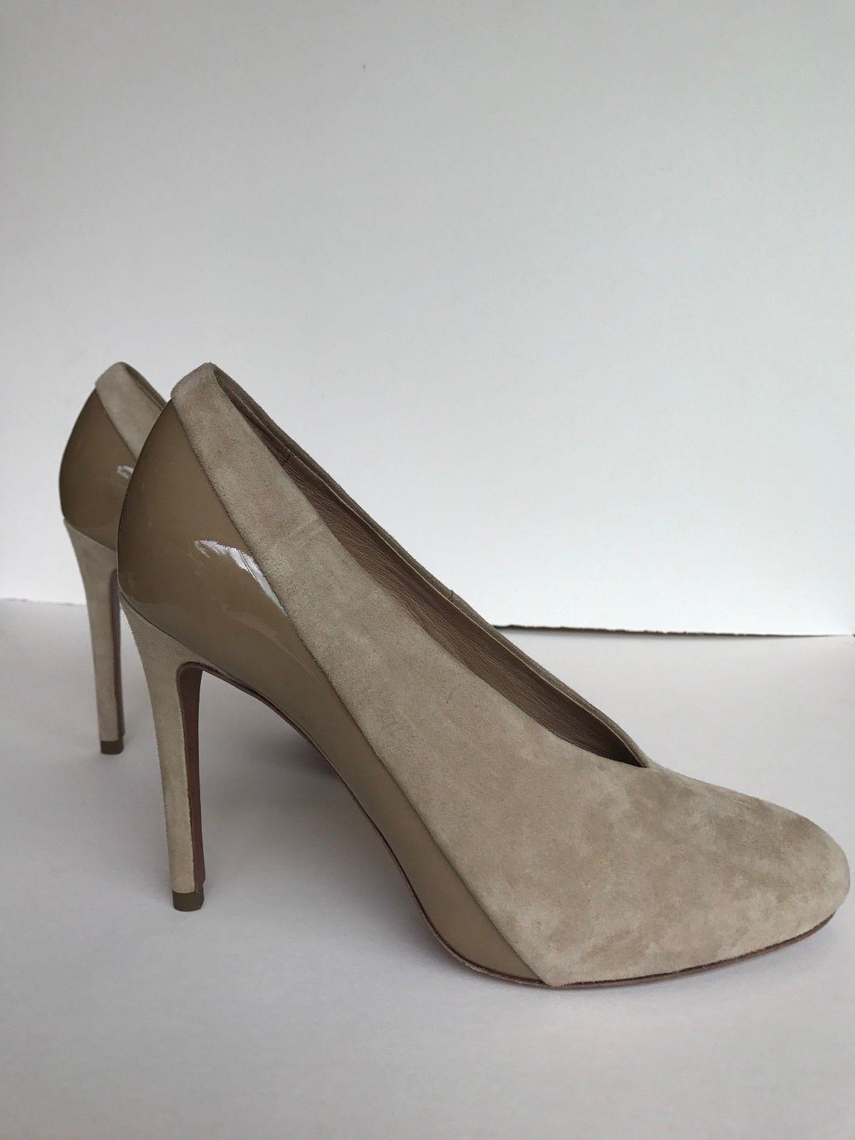 137a26355a28 See by Chloe Nude Suede Heels Size 39 Hardly Worn