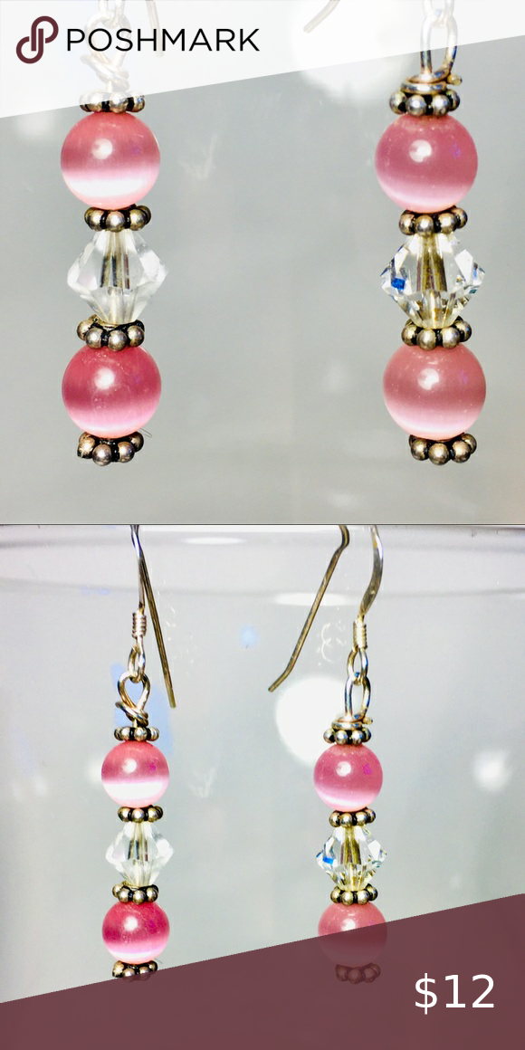 Shimmering Pink dangle earrings