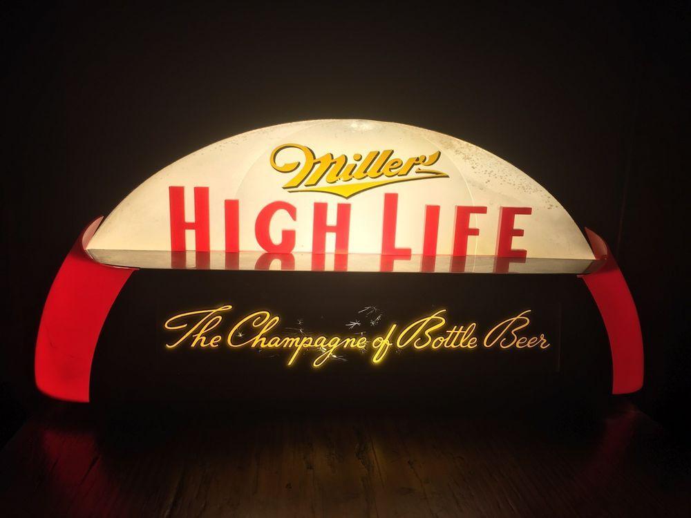 Vintage 1930s miller high life beer cab light sign price bros gilco vintage 1930s miller high life beer cab light sign price bros gilco back bar aloadofball Choice Image