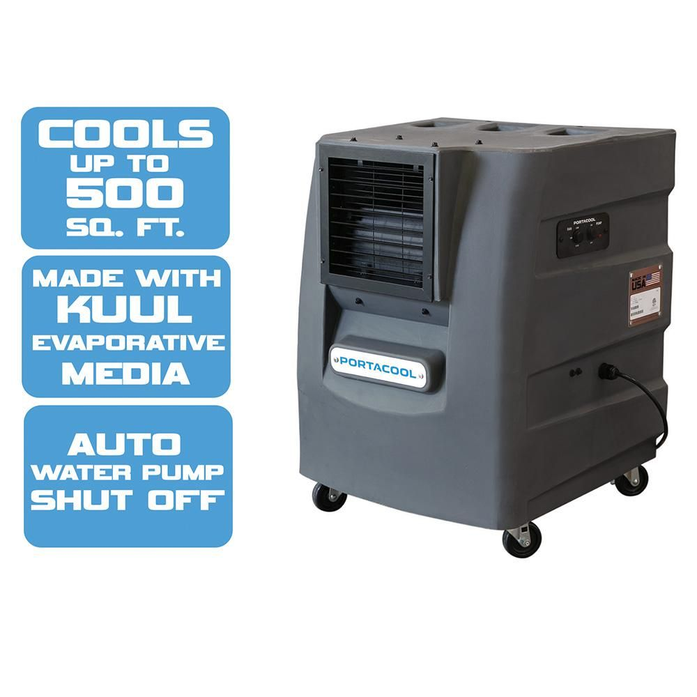 Cyclone 120 2000 Cfm 2 Speed Portable Evaporative Cooler For 500