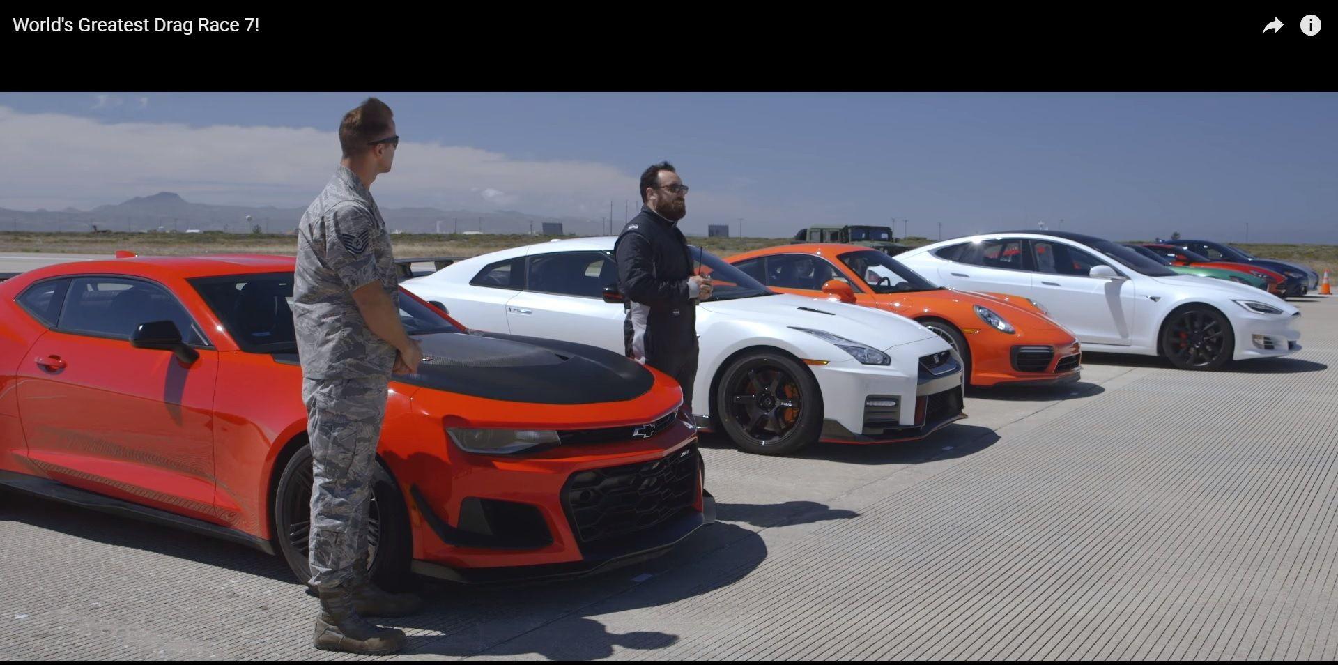 Supercar Drag Race 2017 Tesla Wins Racing Drag Race Super Cars