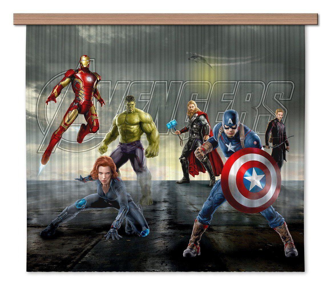 Avengers Marvel, Kinderzimmer Gardine/Vorhang, 180x160 cm, 2 Teile ...