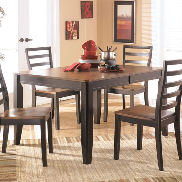 Room Signature Design By Ashley Alonzo Two Tone Butterfly Dining Table