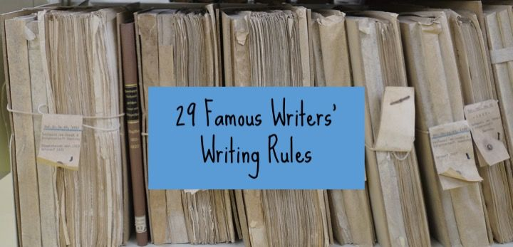 http://www.authorspublish.com/29-famous-writers-writing-rules-yay/
