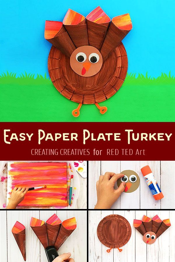 Paper Plate Turkey For Preschoolers Homeschool Art