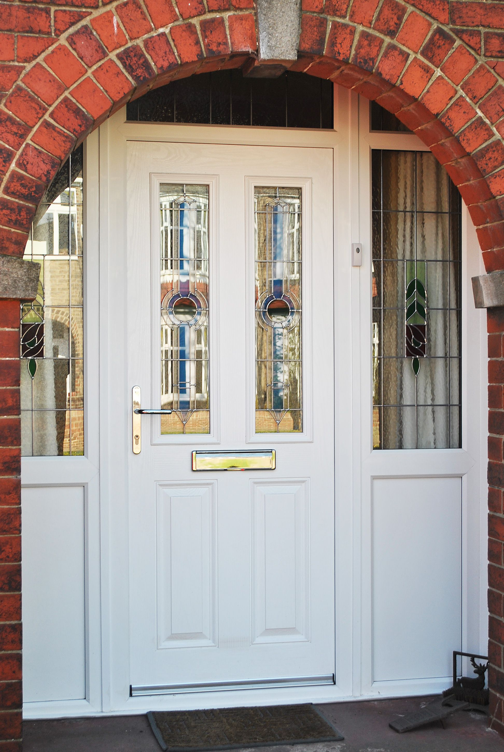 Stunning white altmore composite door and windows with for Upvc window designs