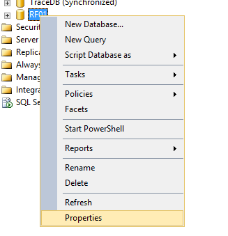 Create a database filegroup