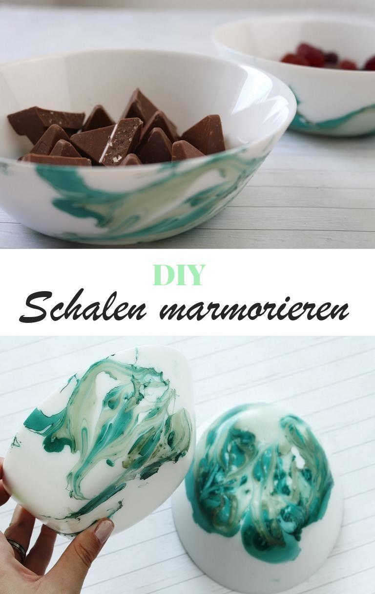 DIY Schalen mit Nagellack marmorieren - Ria Marleen | Diys, Crafts ...
