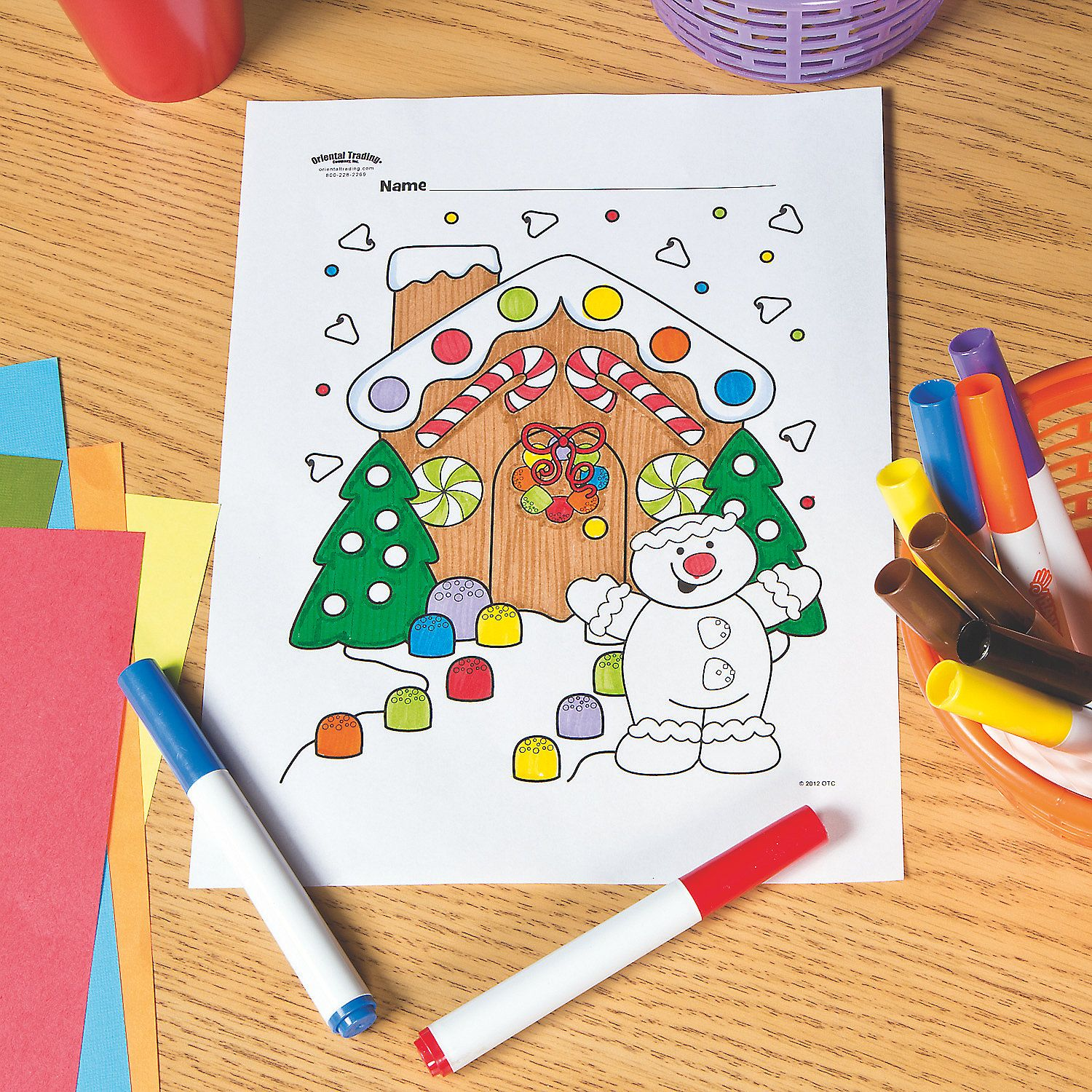 Gingerbread House Free Printable Coloring Page Orientaltrading