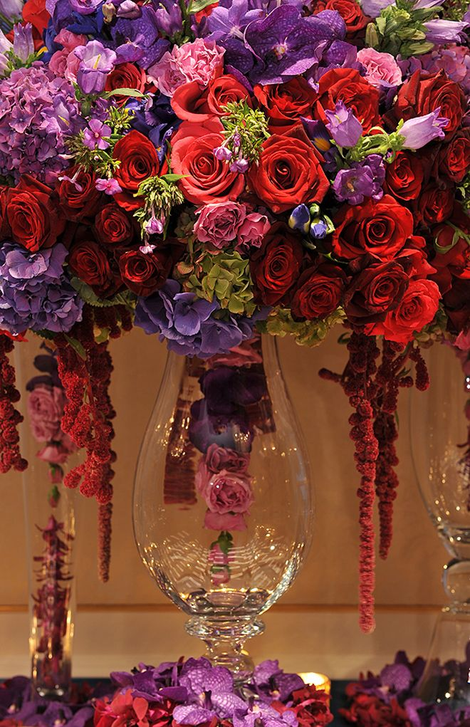 25 Stunning Wedding Centerpieces Part 13 Belle The Magazine Blog For Sophisticated Bride Red Purple Weddings