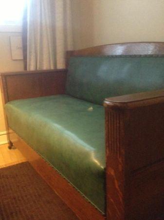 Antique Couch Sleeper Vintage Sofa Mission Oak Davenport