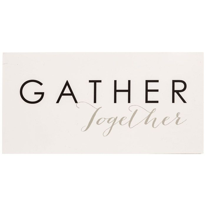 Gather Together MDF Block | Hobby Lobby