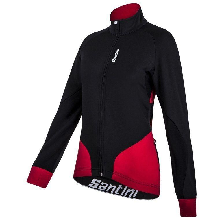 Black//Red Women/'s ProMear Cycling Knickers Made in Italy by Santini