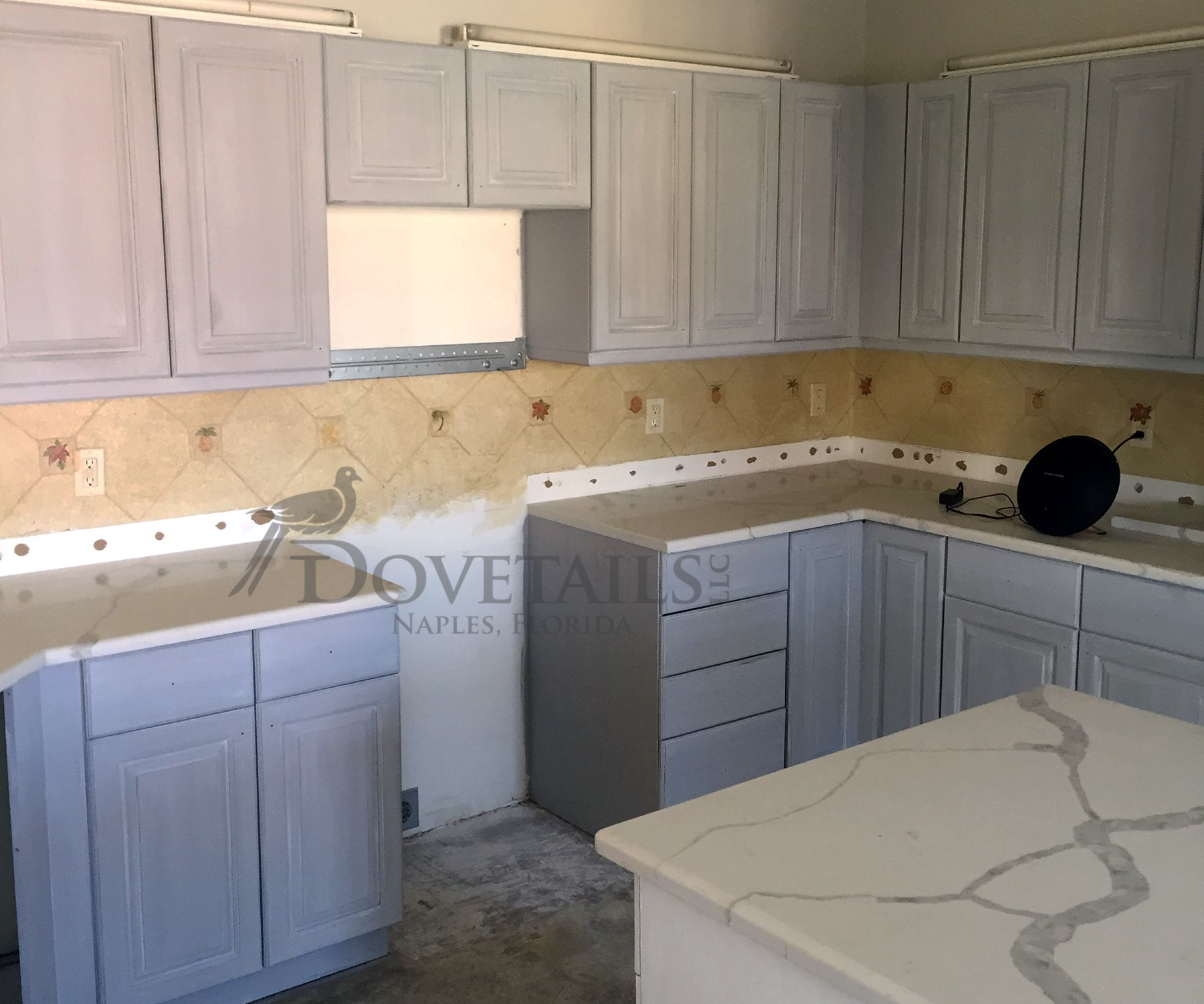 Dovetails Llc   Naples, Florida   Custom Kitchen Cabinet ReStyle   Pure  White Chalk Paint