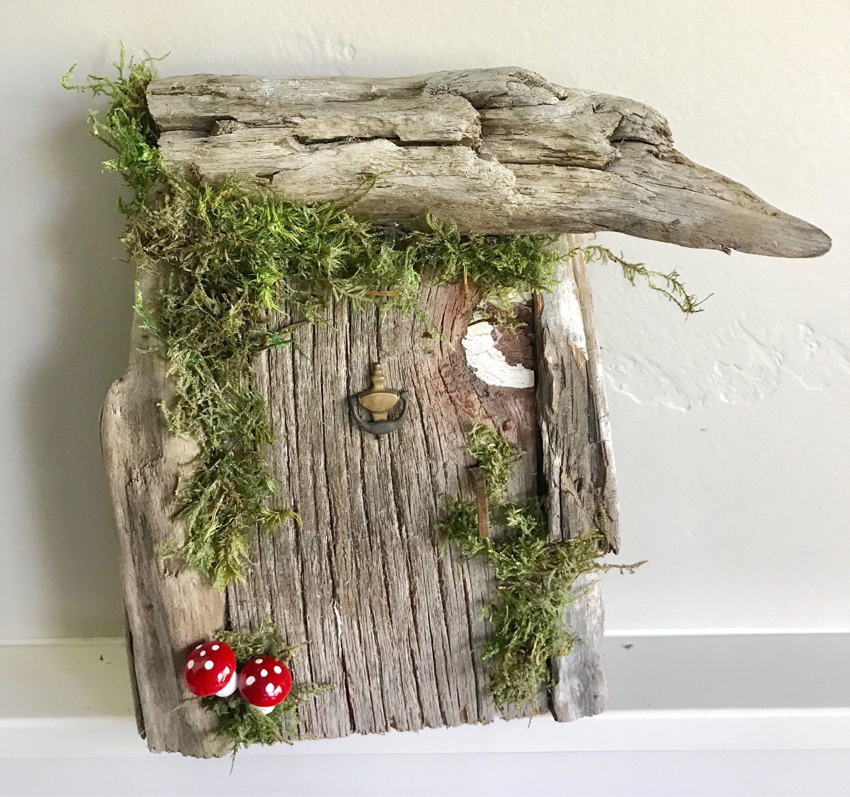 Garden decor for baby shower  Rustic Fairy DoorWedding Woodland enchanted forest fairy garden