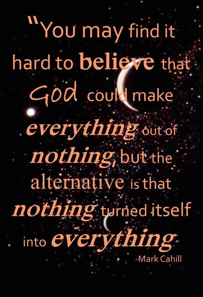 Creation...I believe!  #Christian