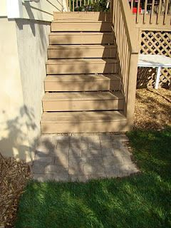 Patio Pavers At Bottom Of Deck Stairs Deck Stairs Outdoor Stairs Stairs