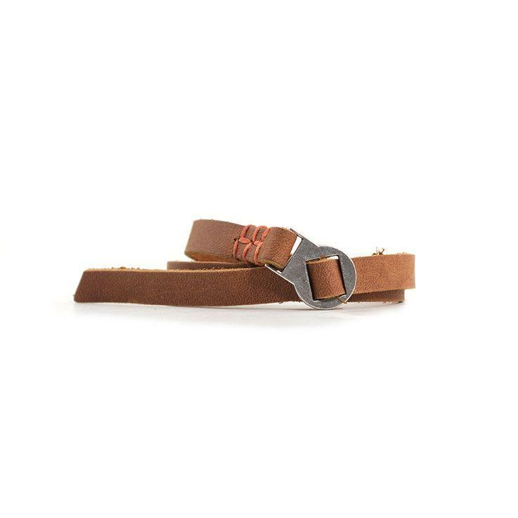 Robert Mason Leather Wristwear : Large Threaded Orange Stitch