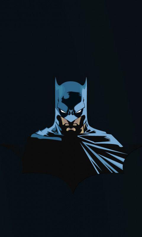 Batman Superhero Minimal 480x800 Wallpaper Comics Pinterest