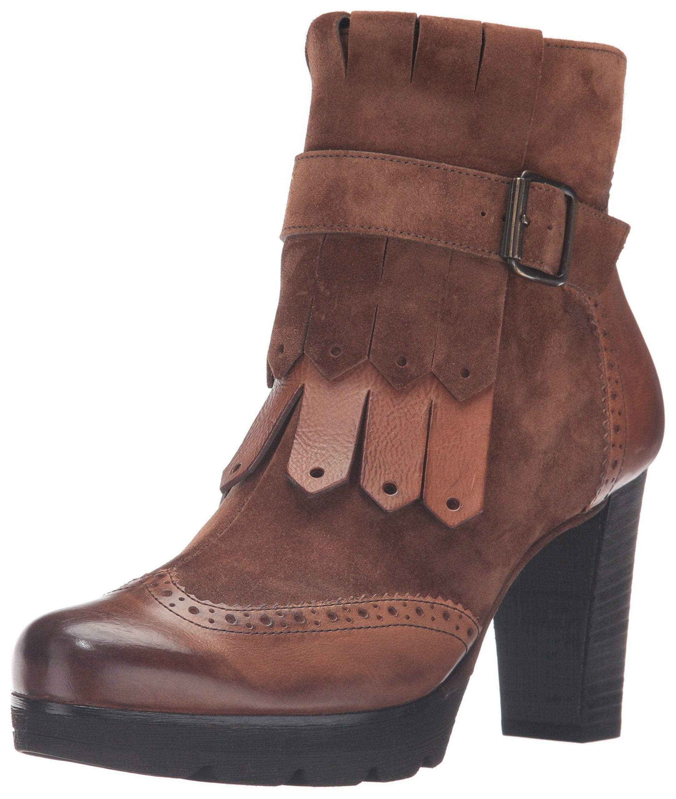 4ceda7ec5 Paul Green Women's Kimberlee Ankle Bootie, Oak Cuoio Combo,7.5 M US.  Italian leather.