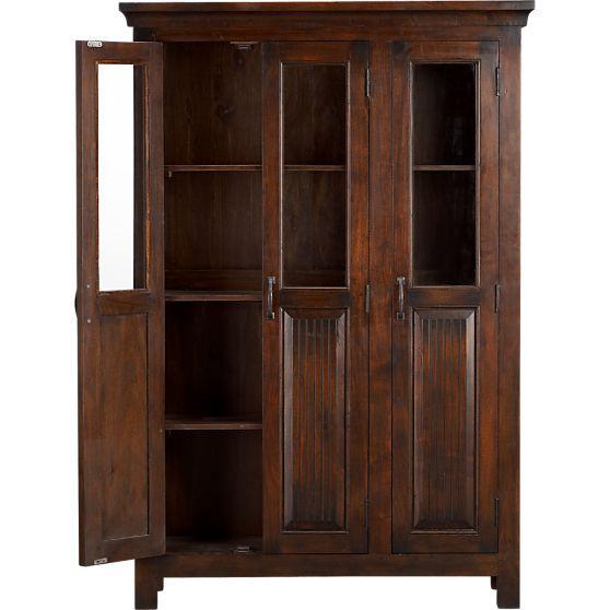 Kavari 3 door cabinet crate and barrel bathroom - Crate and barrel bathroom vanities ...