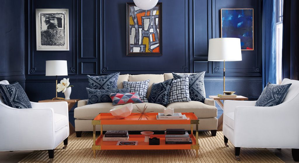 Pin On Living Room #orange #and #navy #living #room